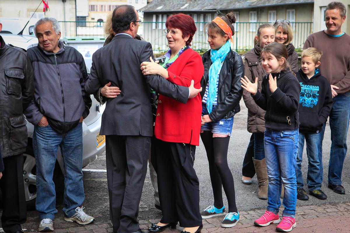 1er tour de l'élection présidentielle à Tulle, 22/04/2012