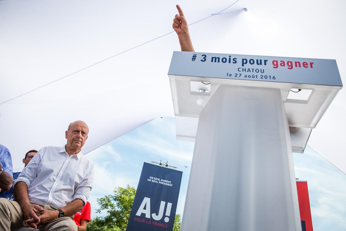 Alain Juppé à Chatou, 27/08/2016