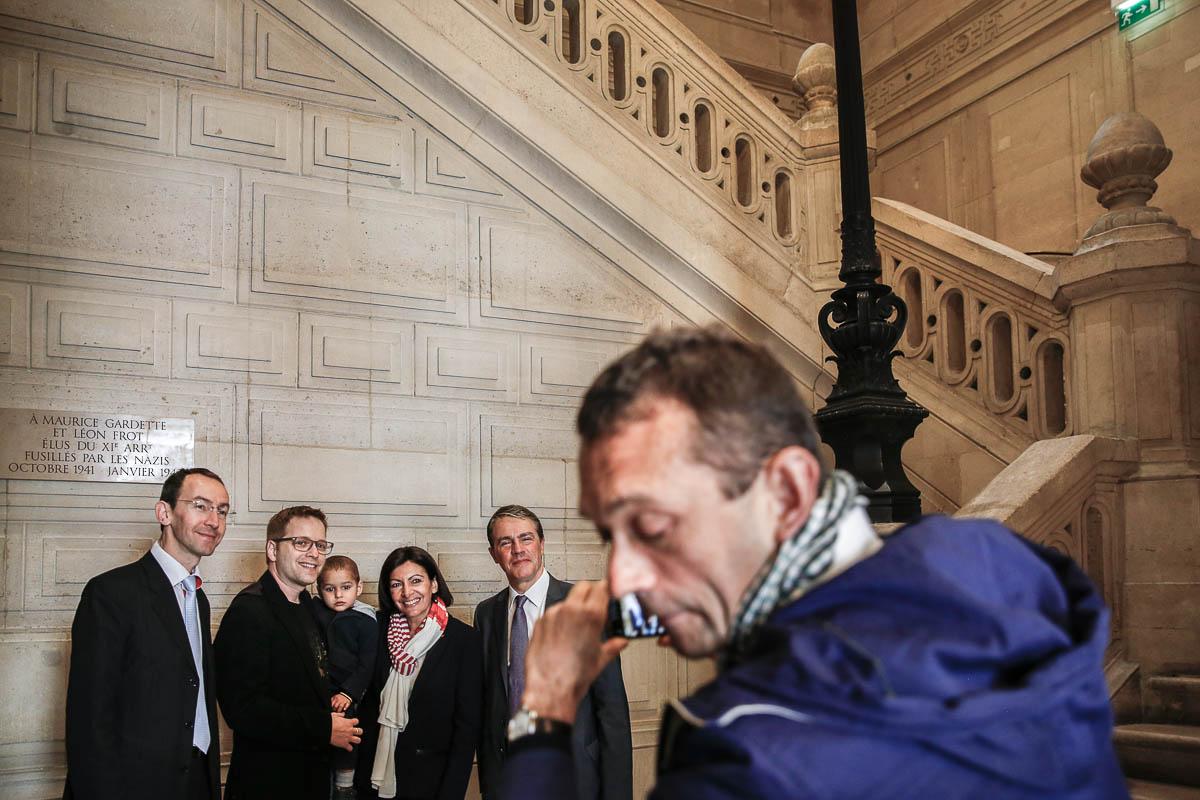 Un autre jour dans la vie d'Anne Hidalgo, 2e tour des municipales, Paris, 30/03/2014