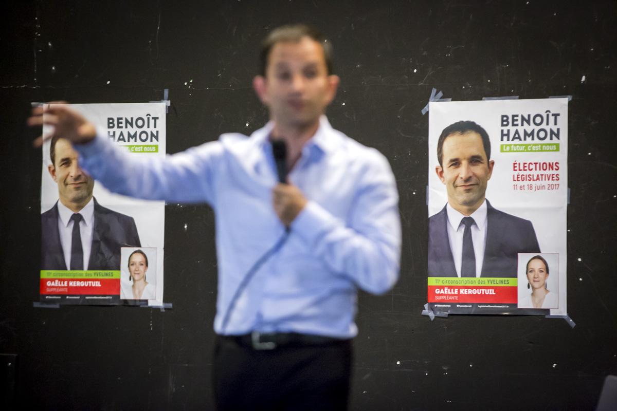 Benoît Hamon à Trappes, 6/06/2017