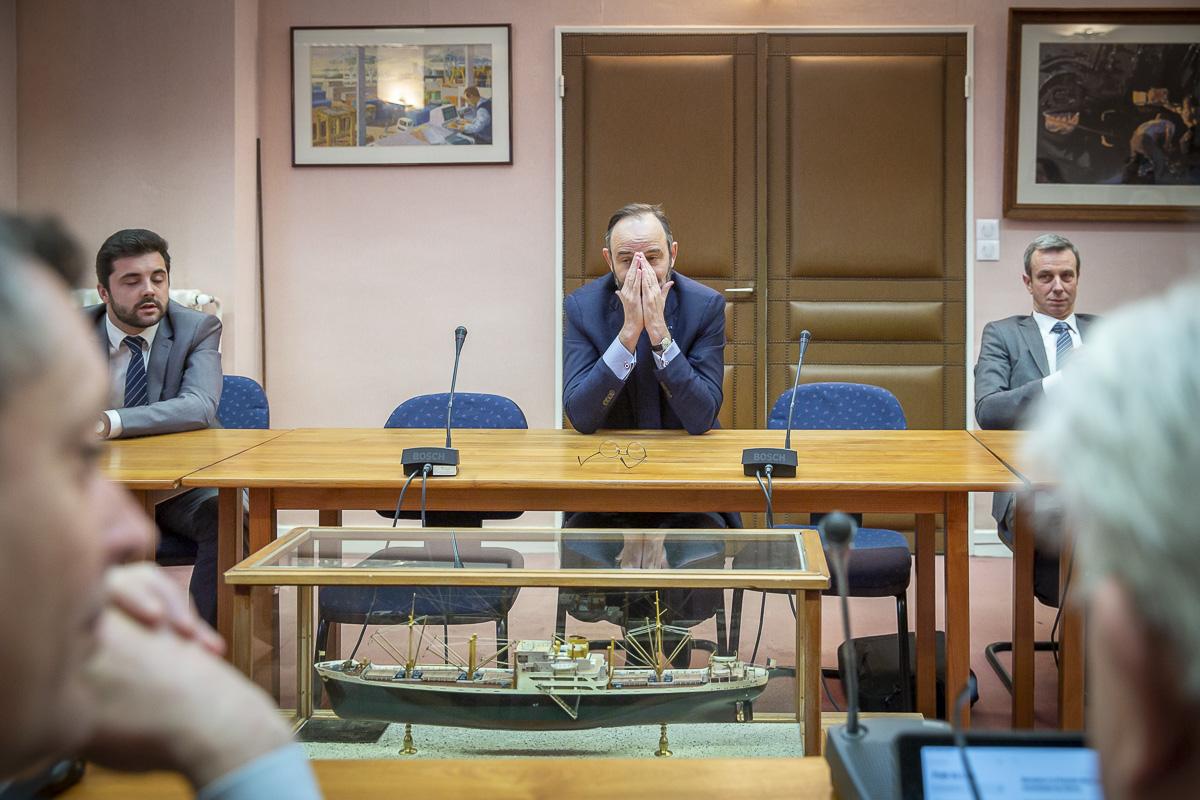 Edouard Philippe de l\'Assemblée nationale au Havre, 3,5 et 6/03/2020