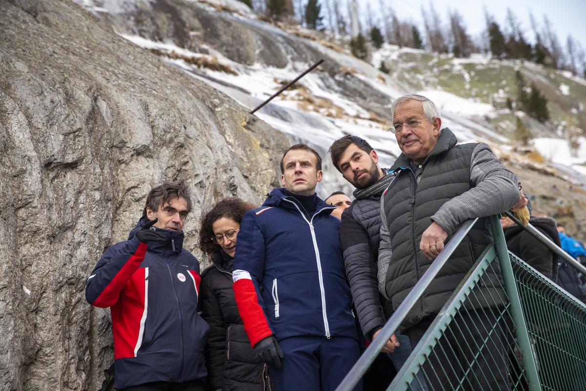 Emmanuel Macron à Chamonix, 13/02/2020