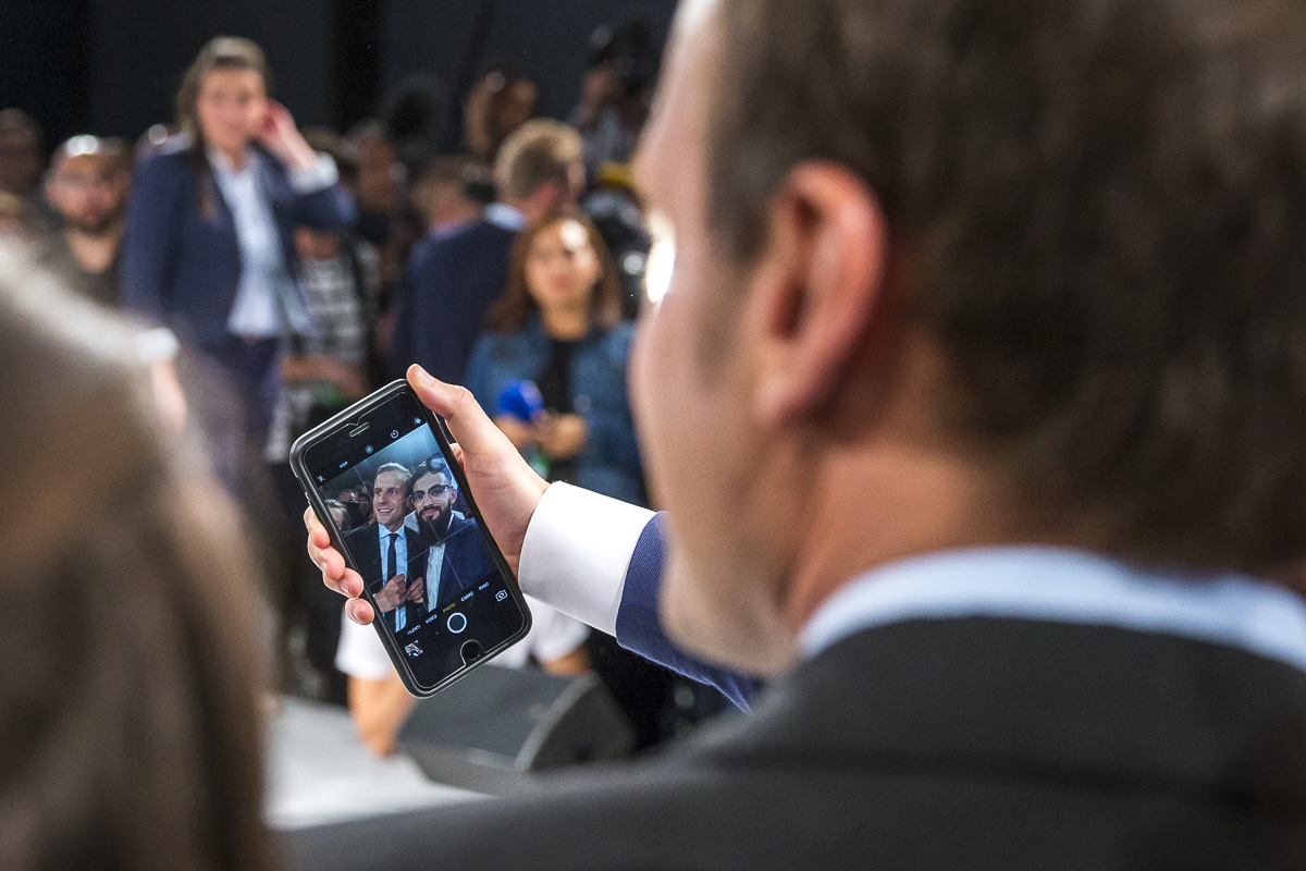 Emmanuel Macron à Strasbourg, 4/10/2016