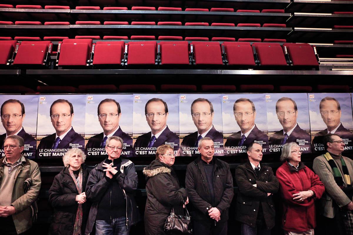 François Hollande à Laval et au Mans, 24/02/2012
