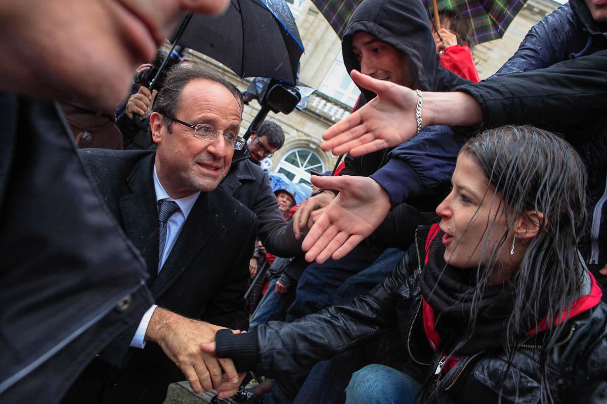 François Hollande à Quimper, Lorient, Bourges et Limoges, 23 et 27/04/2012