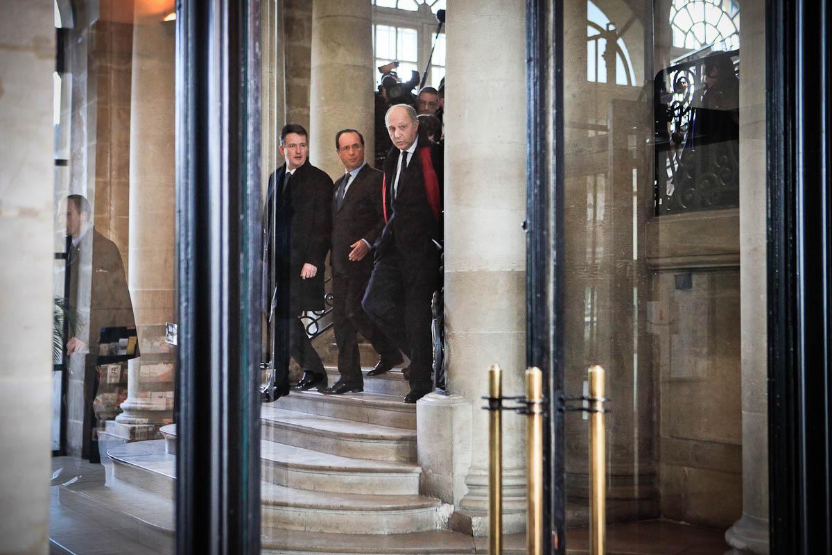 François Hollande à Rouen, 15/02/2012