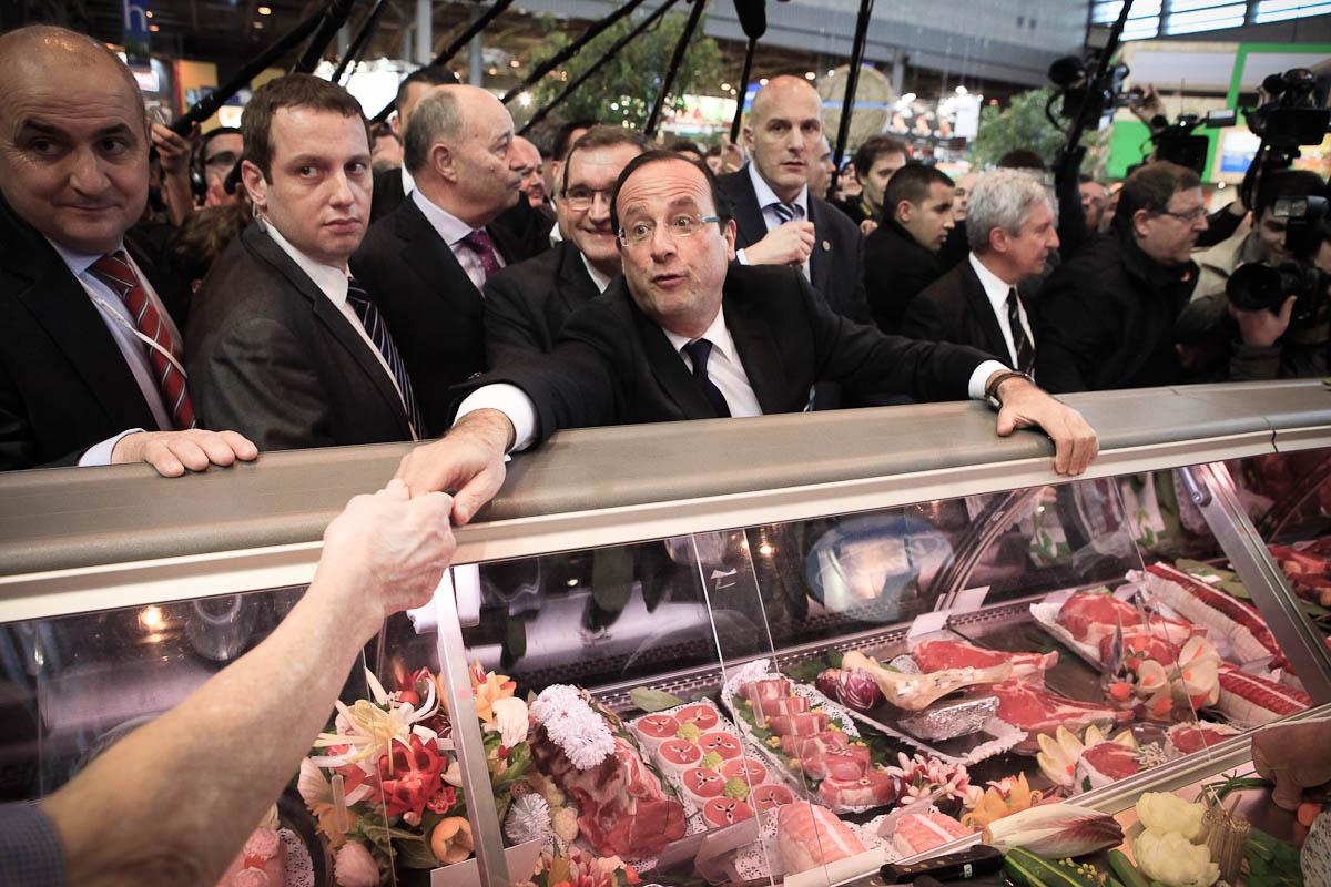 François Hollande au Salon de l'Agriculture, 28/02/2012