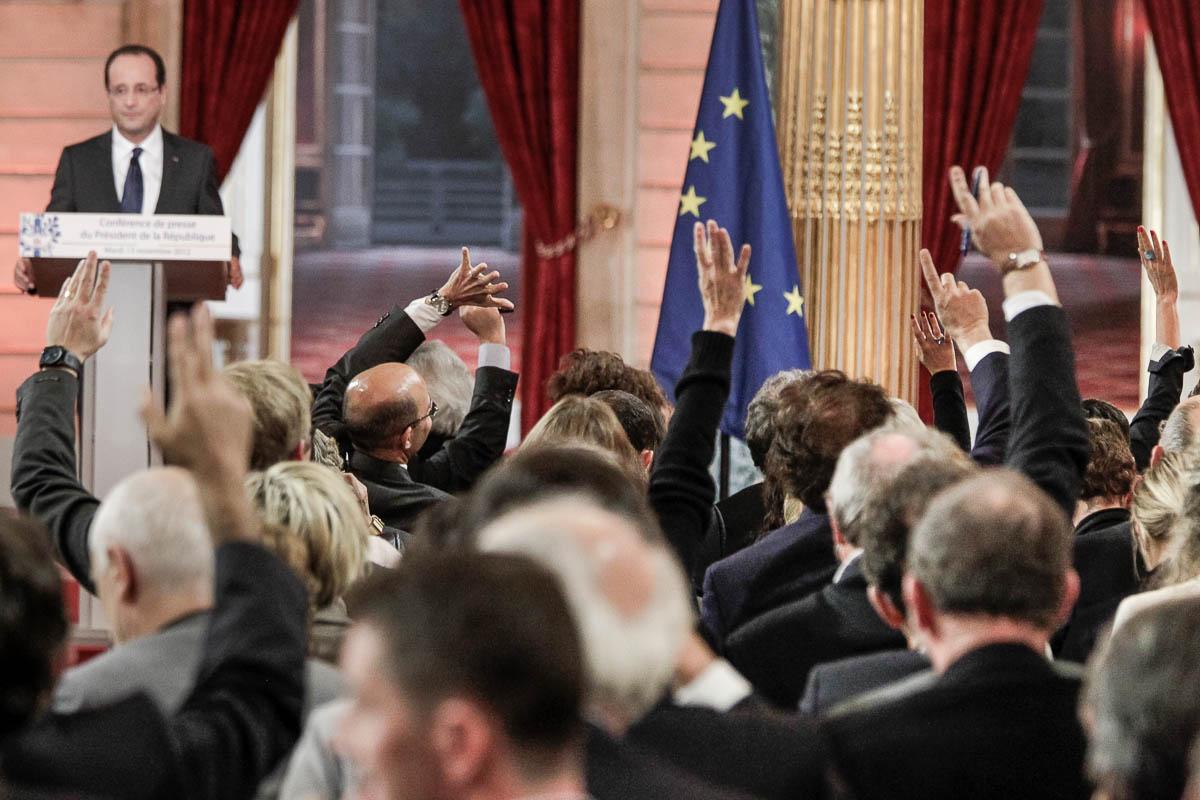 François Hollande, sixième mois au pouvoir, 13/11/2012