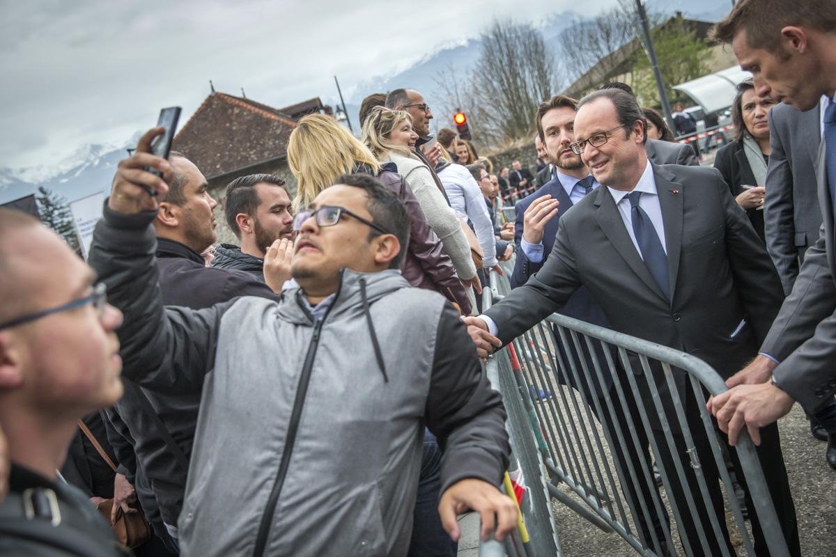 François Hollande en Isère, 18/03/2017