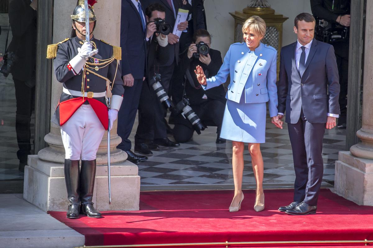 Francois Hollande et Emmanuel Macron, passation de pouvoir, 14/05/2017