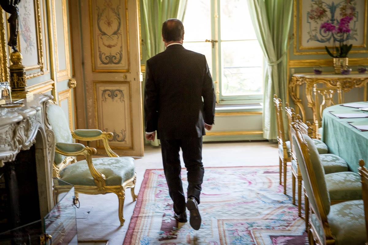 François Hollande, un jour d'été à l'Elysée, 19/08/2014