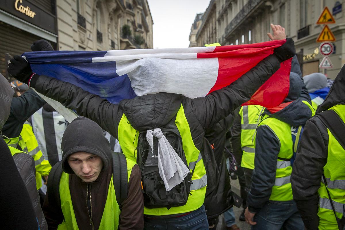 Les gilets jaunes à Paris, 08/12/2018