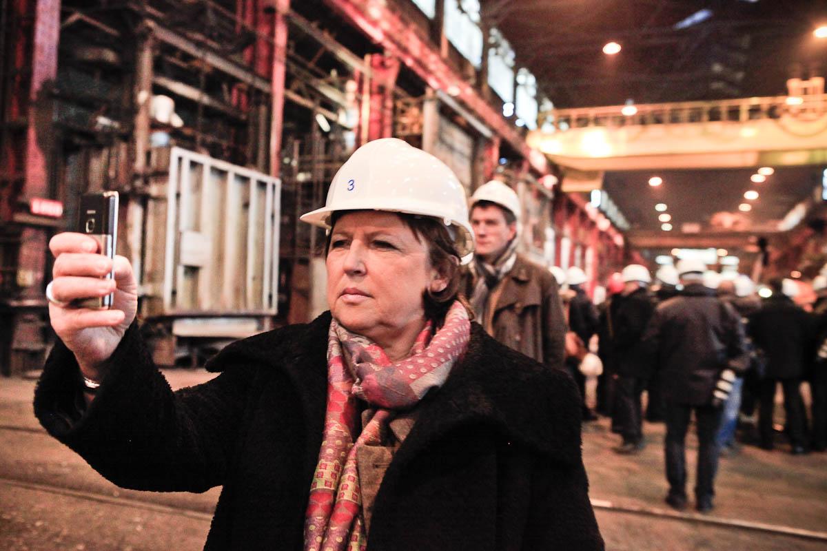 François Hollande et Martine Aubry en Lorraine, 5/03/2012
