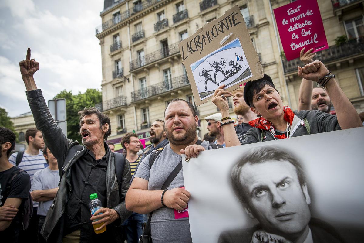 Emmanuel Macron à la Mutualité, Paris, 12/07/2016