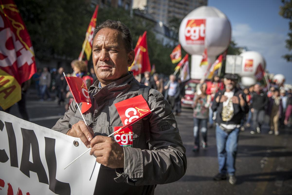 Manifestation contre la loi Travail, Paris, 12/09/2017