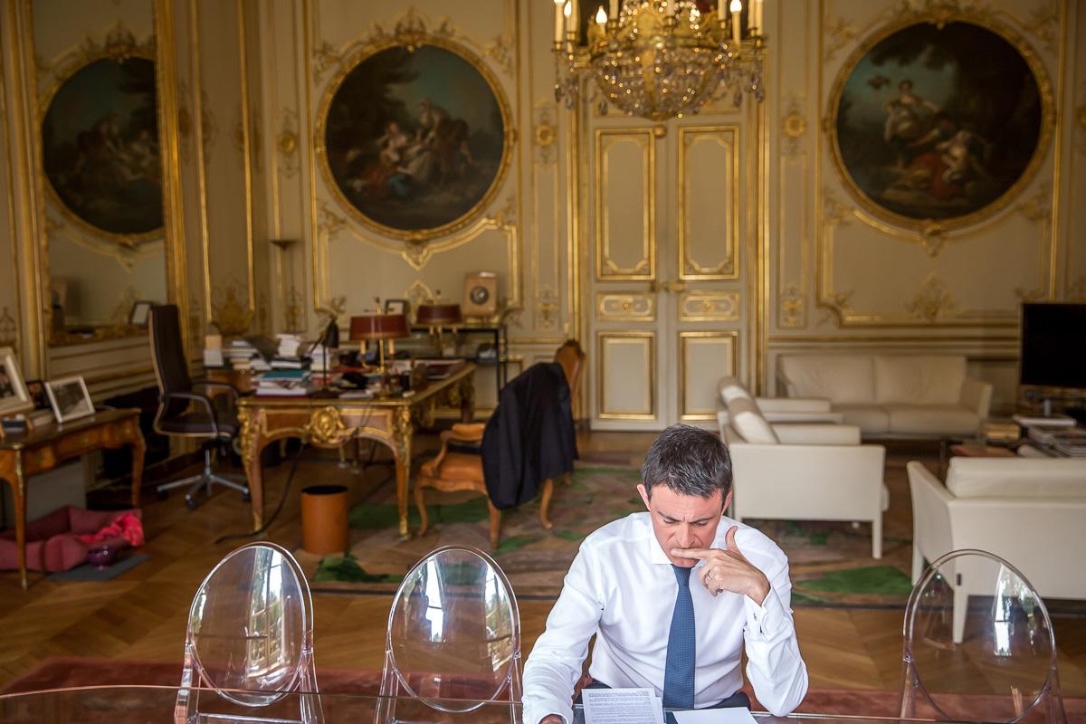 Manuel Valls, hôtel Matignon, 28/07/2016