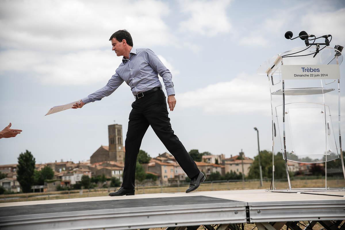 Manuel Valls, deux banquets républicains. Trèbes et Vauvert, 20/06 et 06/07/2014