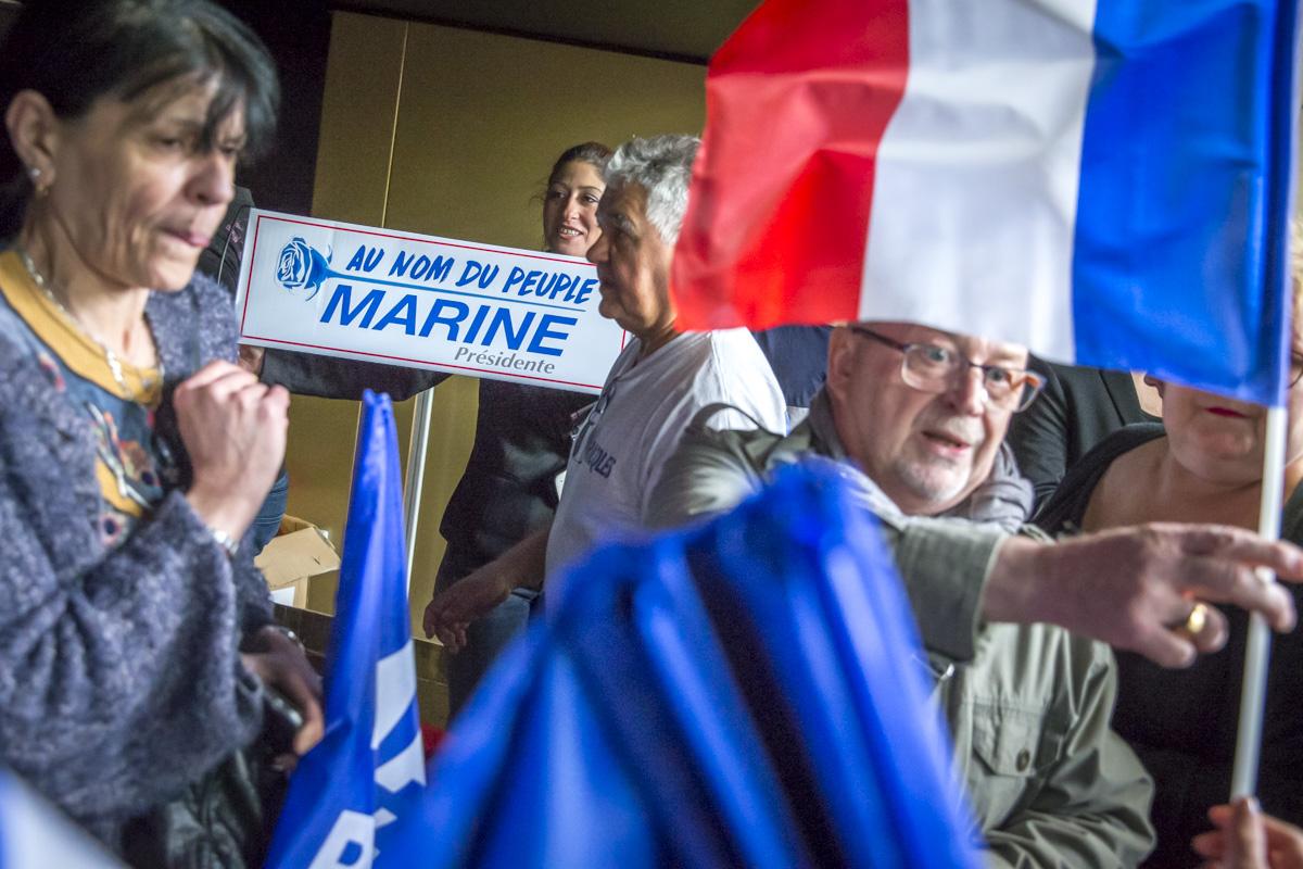 Marine Le Pen à Perpignan, 15/04/2017
