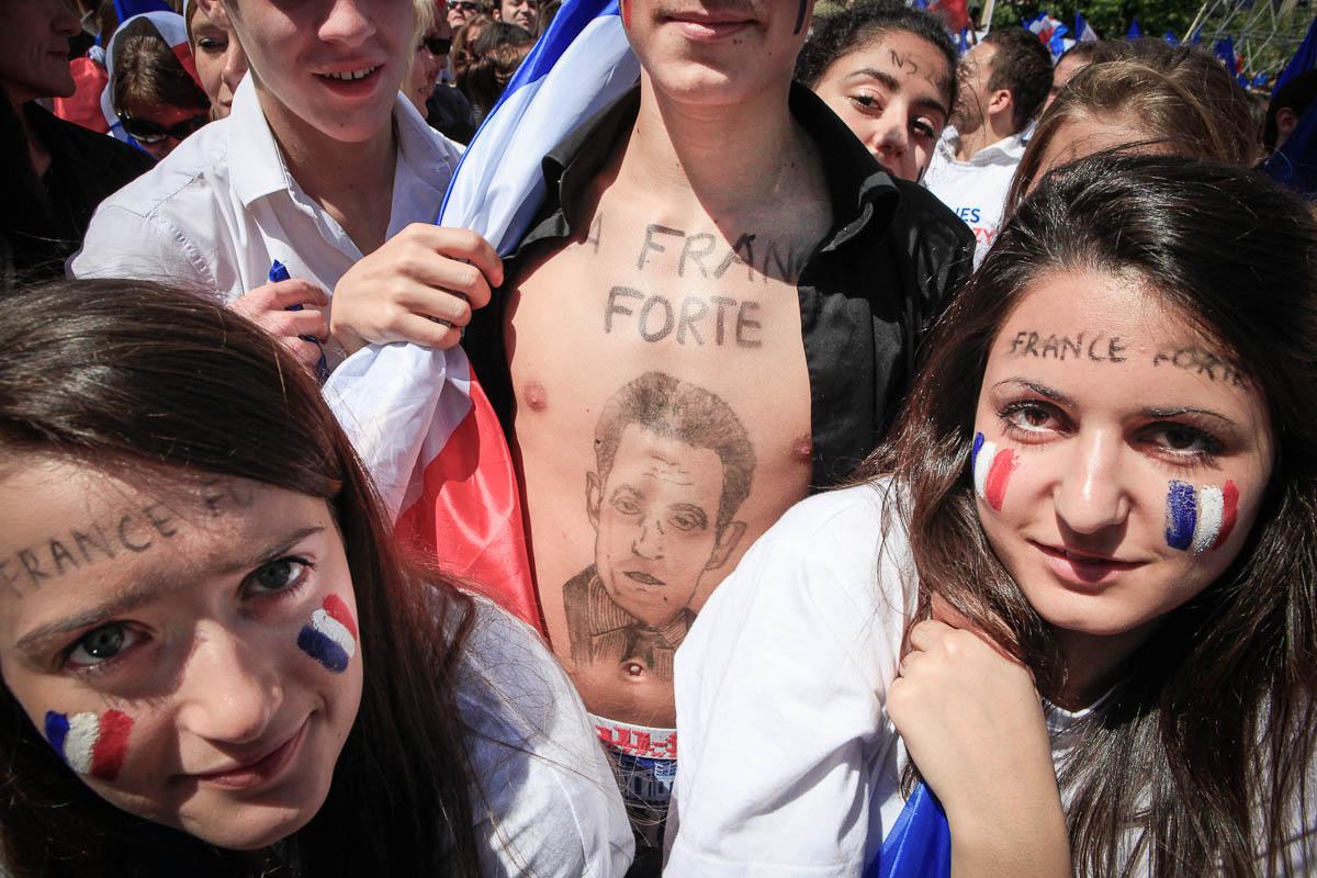 Nicolas Sarkozy au Trocadéro, 1er mai 2012