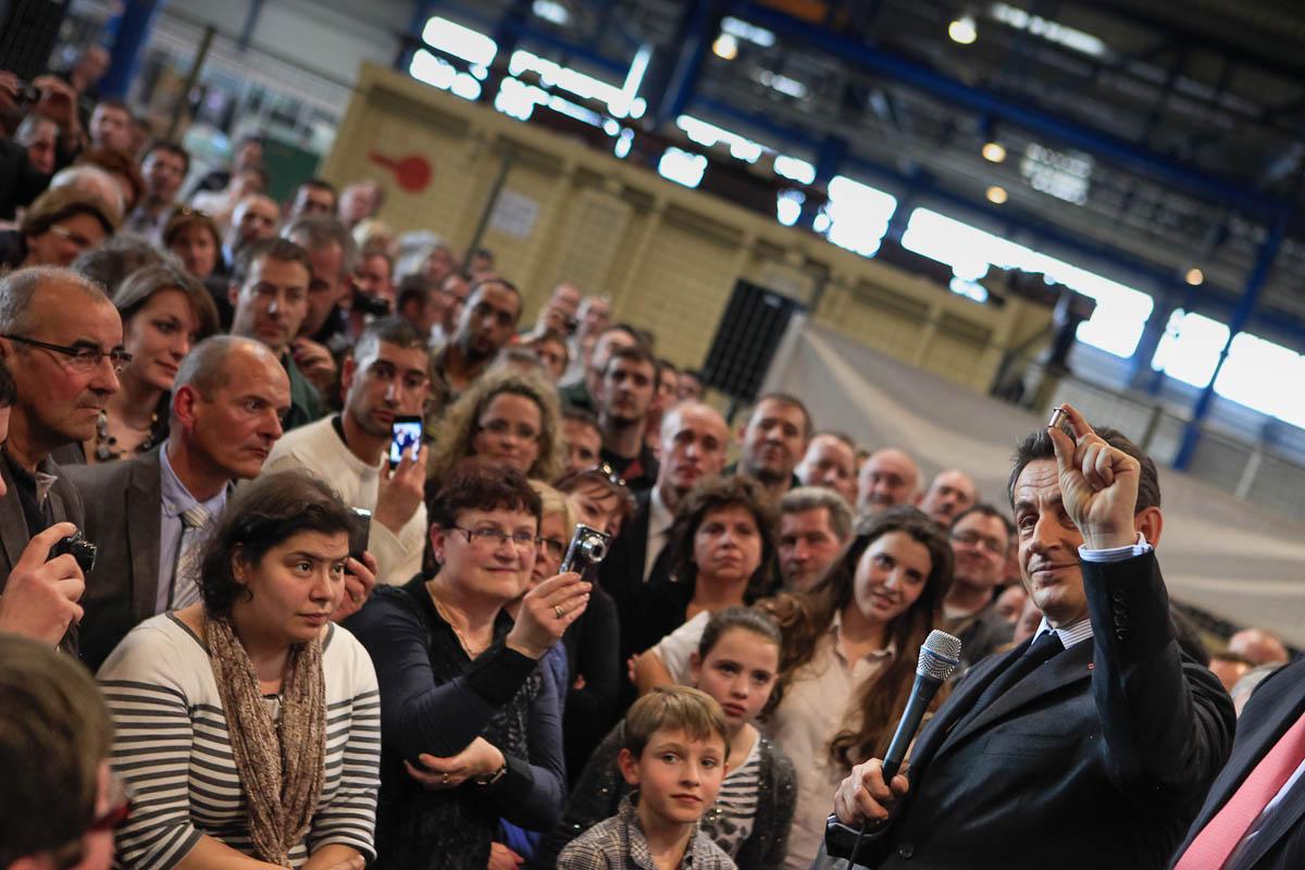 Nicolas Sarkozy dans la Marne, 15/03/2012
