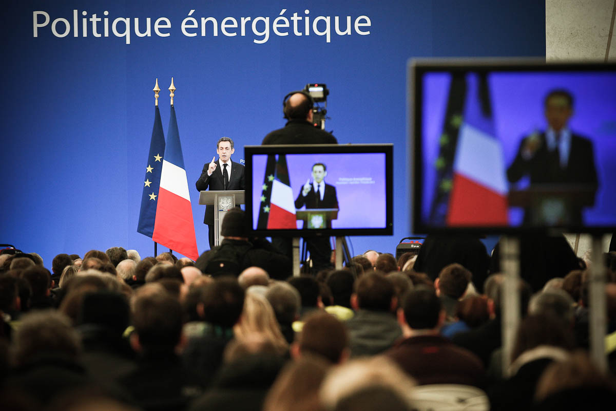 Nicolas Sarkozy à Fessenheim, 9/02/2012