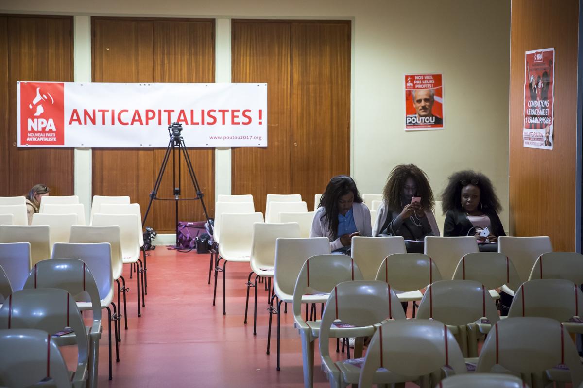 Philippe Poutou à Rouen, 6/04/2017