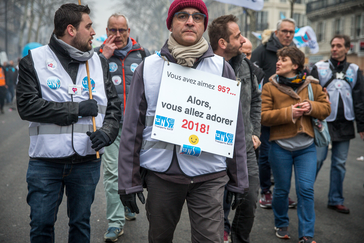 Réforme de la SNCF #3: la manif des cheminots du 22/03/2018