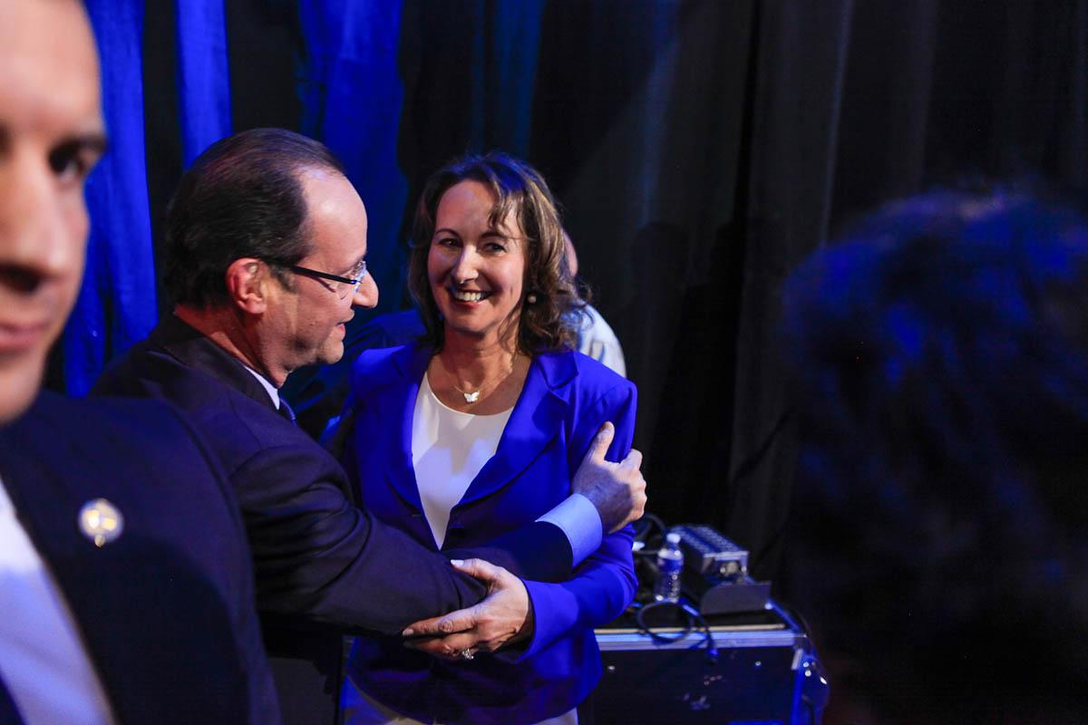 Ségolène Royal et François Hollande à Rennes, 4/04/2012