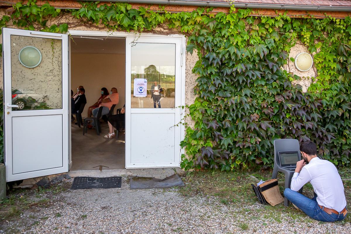 Sébastien Lecornu en campagne sénatoriale dans l'Eure, 18/092020