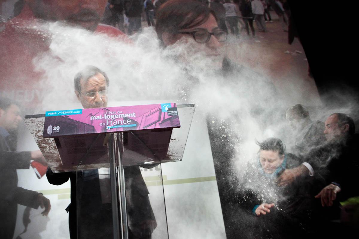 Une femme, Pte de Versailles, Paris, 31/01/2012