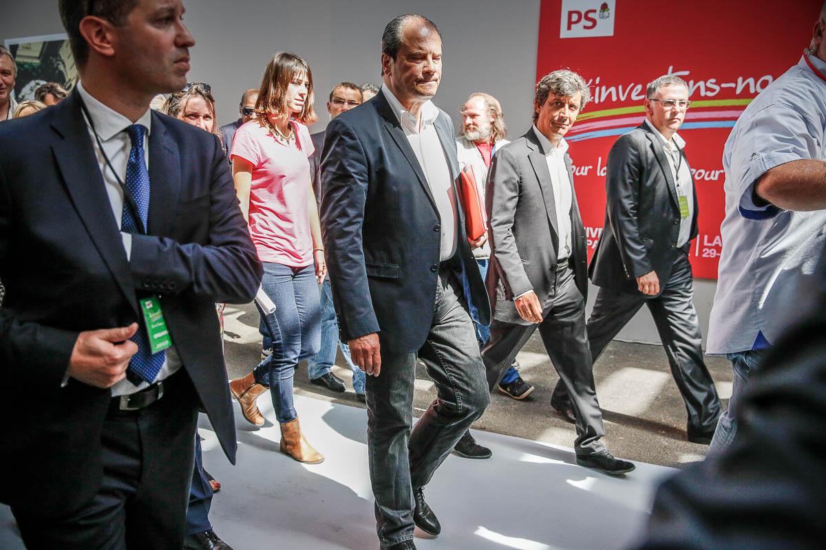 Jean-Christophe Cambadelis participe à la séance d'ouverture de l'Université d'été du Parti socialiste à La Rochelle, Vendredi 29 août 2014 - 2014©Jean-Claude Coutausse / french-politics pour Le Monde