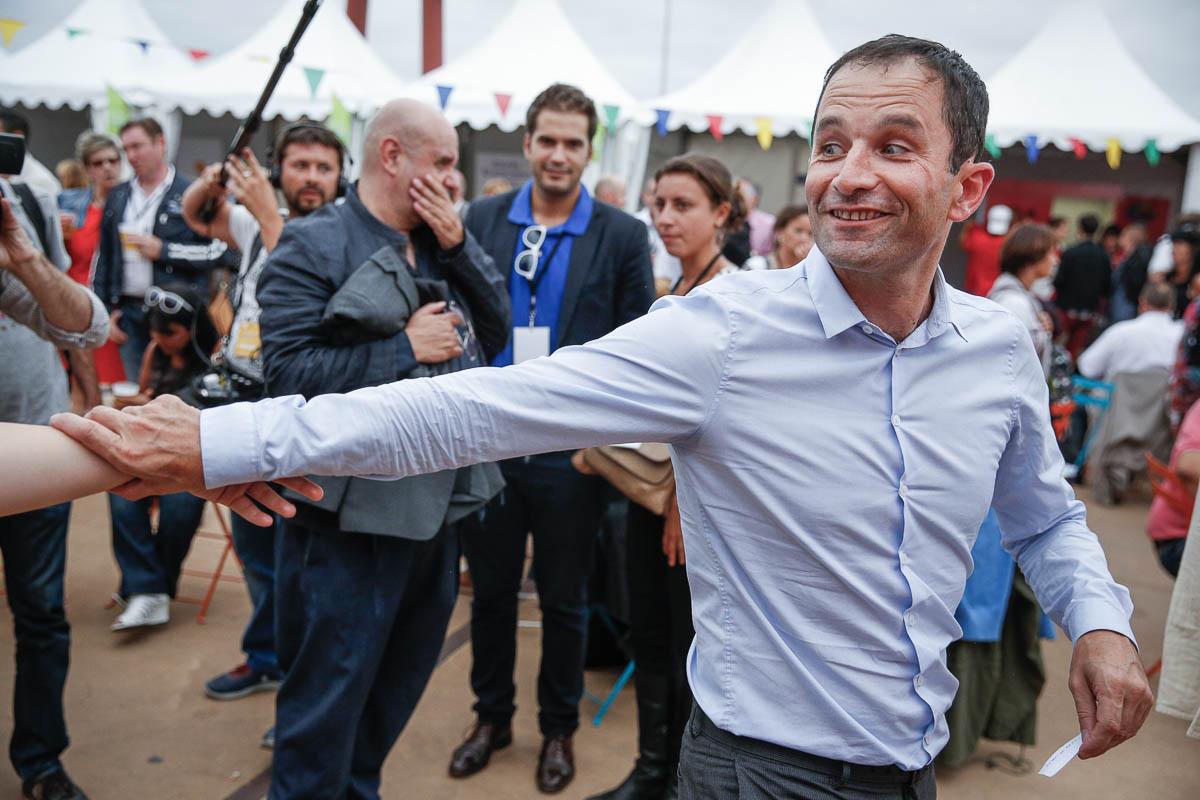 Benoit Hamon participe à l'Université d'été du Parti socialiste à La Rochelle. Samedi 30 août 2014 - 2014©Jean-Claude Coutausse / french-politics pour Le Monde