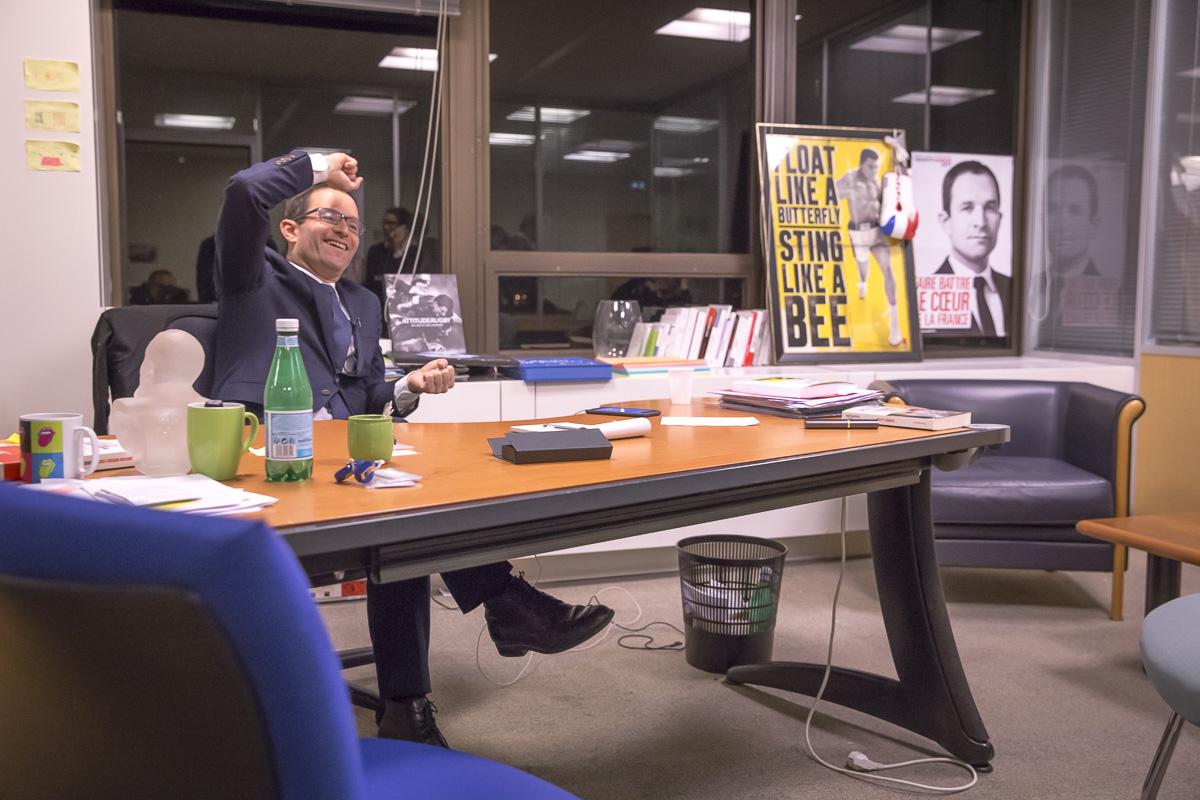 Benoît Hamon, 1er tour de la primaire de la gauche, 22/01/2017