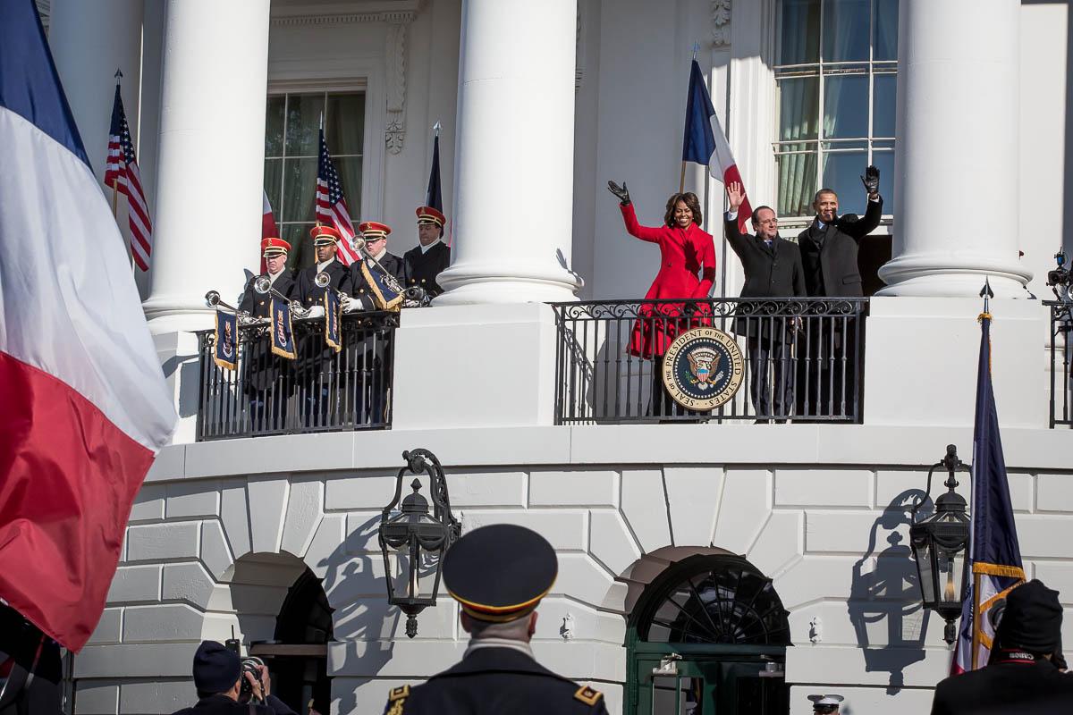 François Hollande à Washington D.C., 10 et 11/02/2014