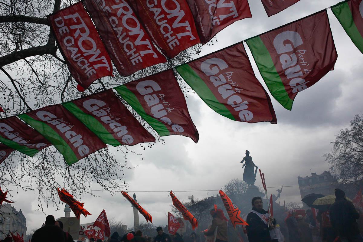 La gauche de la Bastille et celle du Cirque d'hiver, 18/03/2012