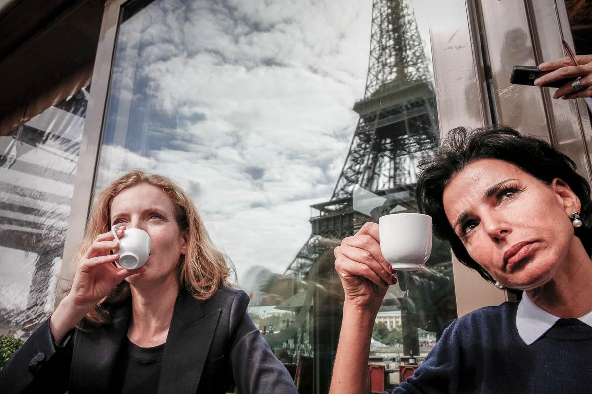 NKM et Rachida Dati au pied de la tour Eiffel, 19/09/2013